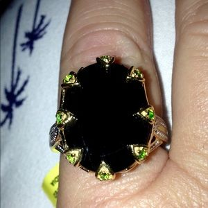 NWT 20 Carat Spinel & Chrome Diopside Ring Vermeil